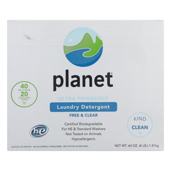 Planet Ultra Powdered Laundry Detergent - Case of 10 - 64 oz.