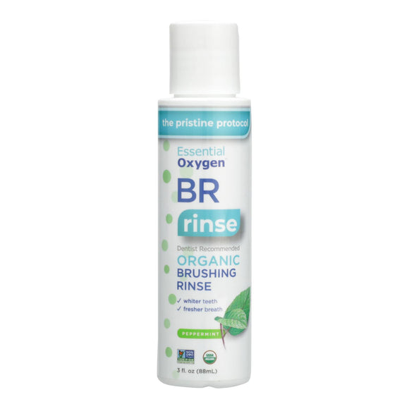 Essential Oxygen Brushing Rinse - Organic - Peppermint - 3 oz Pack of 3
