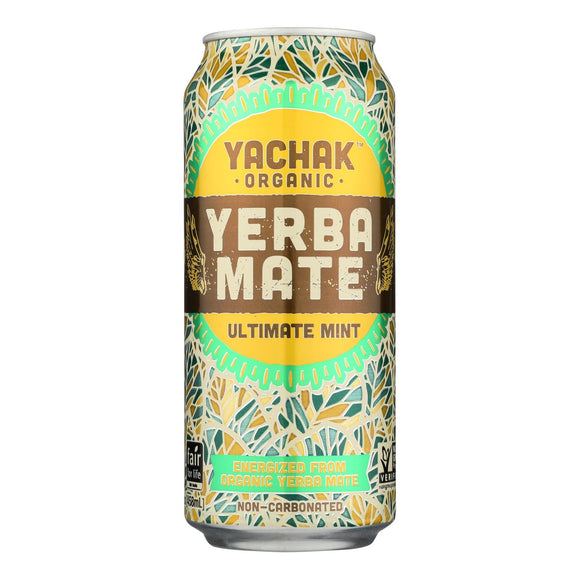 Yachak - Yerba Mate Ultim.mint - Case of 12 - 15.5 OZ