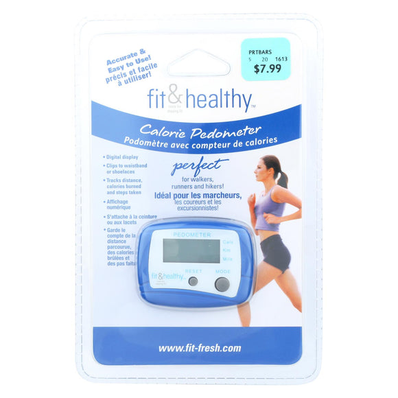 Fit and Fresh Calorie Pedometer Pack of 3
