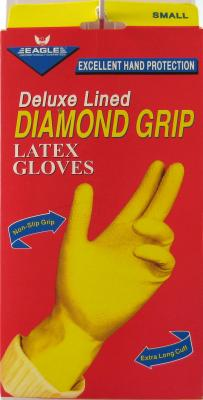 Diamond Grip Long Cuff Sm Glvs Pack of 3