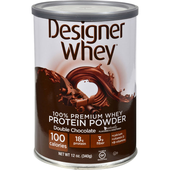 Designer Whey - Protein Powder - Double Chocolate - 12.7 oz Pack of 3
