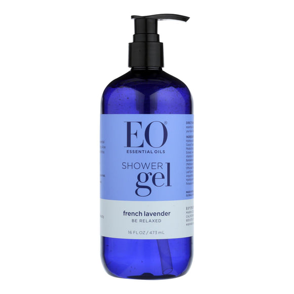 EO Products - Shower Gel Soothing French Lavender - 16 fl oz Pack of 3