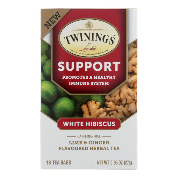 Twinings Tea - Tea Support Wht Hibiscus - Case of 6 - 18 CT