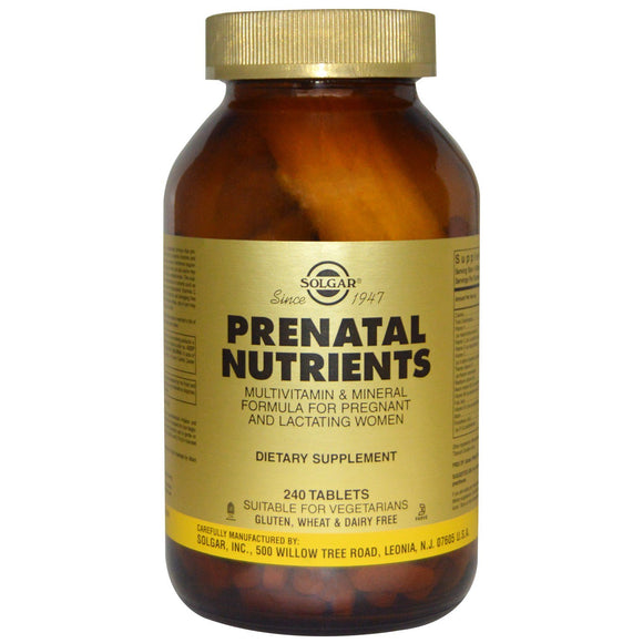 Prenatal Nutrients Tablets 240 ct Pack of 3