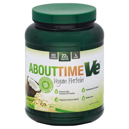 About Time - Vegan Protein Power - Vanilla - 2 lbs. Pack of 3