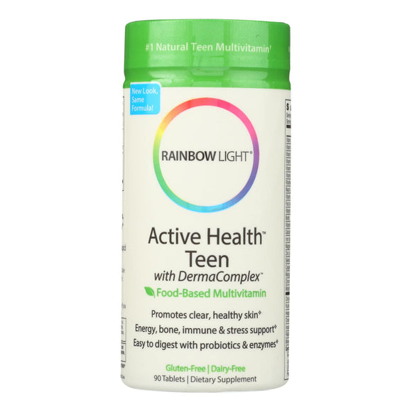 Rainbow Light Active Health Teen Multivitamin - 90 Tablets Pack of 3