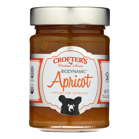 Crofters Premium Spreads - Biodynamic Apricot - Case of 6 - 10 oz.