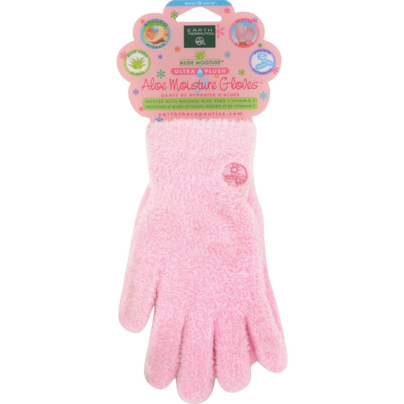 Earth Therapeutics Aloe Moisture Gloves Pink - 1 Pair Pack of 3