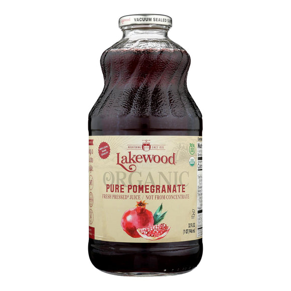 Lakewood - Organic Juice - Pure Pomegranate - Case of 6 - 32 fl oz.