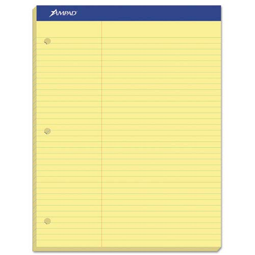 Dual Law Pad Canary 100 Sheets Pack of 6