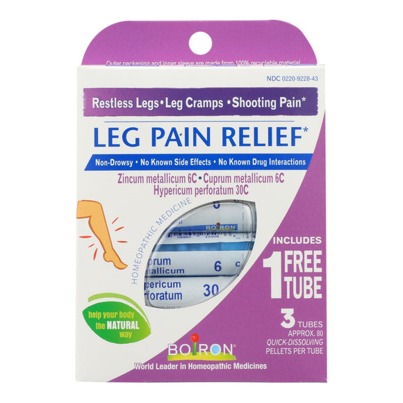 Boiron - Leg Pain Relief - 3 Tubes Pack of 3