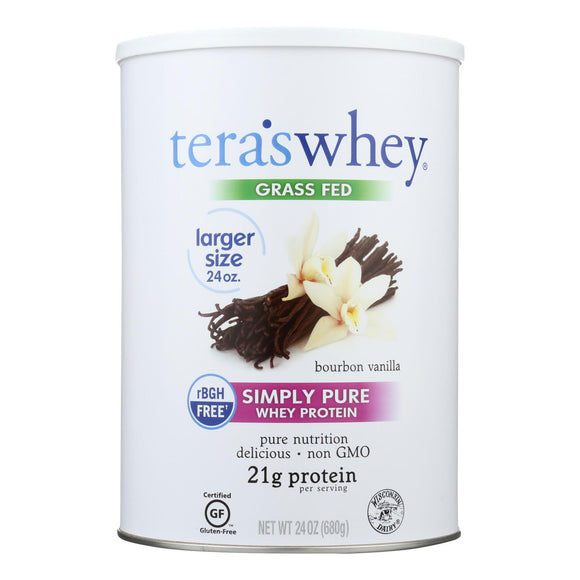 Tera's Whey Protein - rBGH Free - Bourbon Vanilla - 24 oz Pack of 3