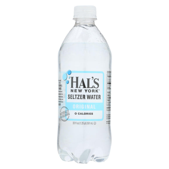 Hal's New York Seltzer - Seltzer Original - Case of 24 - 20 FZ