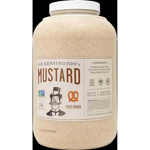 Sir Kensington's Spicy Brown Mustard - Case of 4 - 148 oz.