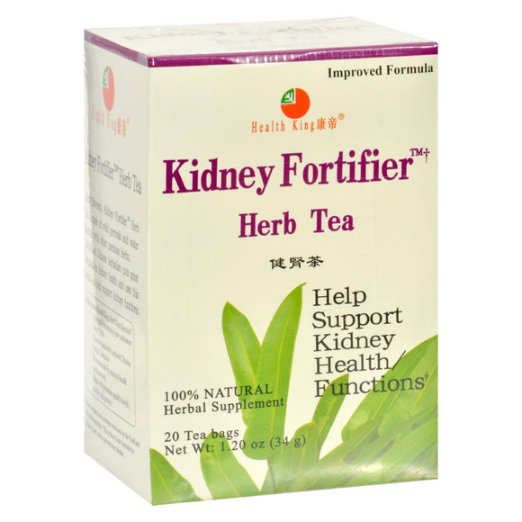Health King Kidney Fortifier Herb Tea - 20 Tea Bags Pack of 3