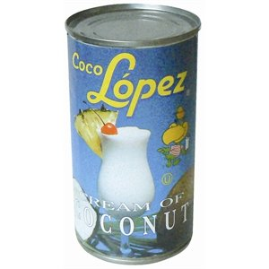 Coco Lopez Real Cream of Coconut - Case of 24 - 15 Fl oz.