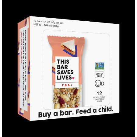 This Bar Saves Lives - Bar Peanut Butter & Jelly - Case of 12 - 1.4 oz.