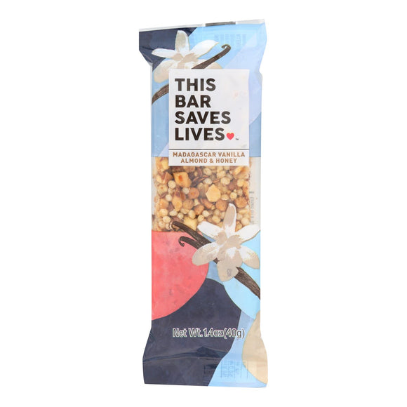 This Bar Saves Lives - Madagascar Vanilla Almond and Honey - Case of 12 - 1.4 oz.