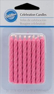 Candles Celebration Pink Pack of 3