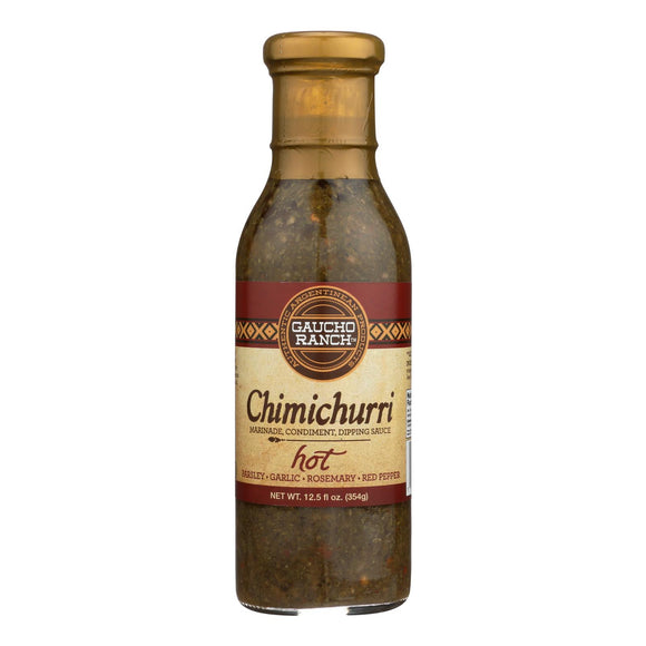 Gaucho Ranch Hot Chimichurri Sauce  - Case of 6 - 12.5 FZ