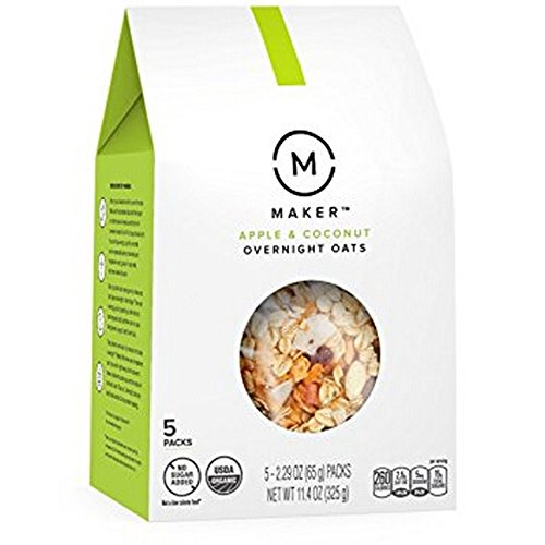 Maker Oats Apple & Coconut Overnight Oats  - Case of 6 - 11.4 OZ
