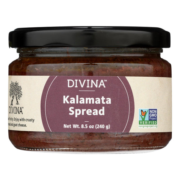 Divina - Kalamata Olive Spread - Case of 6 - 8.5 oz.