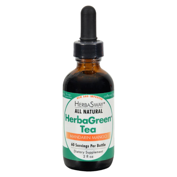 Herbasway Laboratories HerbaGreen Tea Mandarin Mango - 2 fl oz Pack of 3