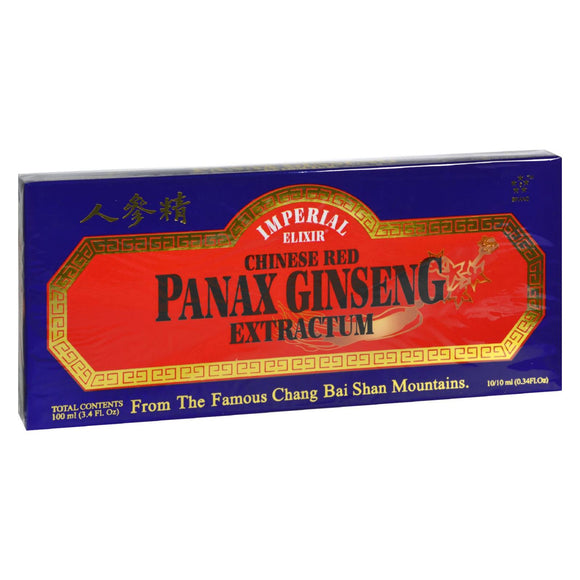 Imperial Elixir Chinese Red Panax Ginseng Extractum - 10 bottles - 10 ml each Pack of 3