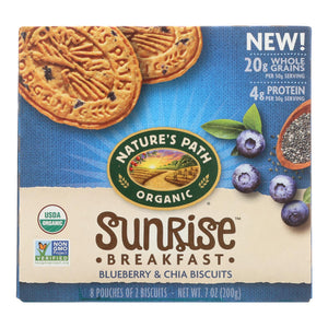 Nature's Path Organic Biscuits - Blueberry Chia - Case of 6 - 7 oz
