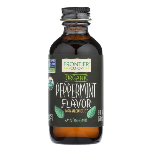 Frontier Herb Peppermint Flavor - Organic - 2 oz Pack of 3
