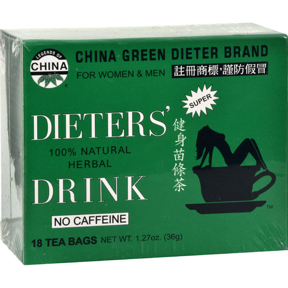 Uncle Lee's China Green Dieters Tea Dieter's Drink - 18 Tea Bags Pack of 3