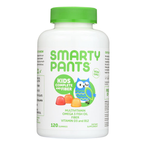 SmartyPants Multivitamin - Kids Complete and Fiber Gummy - 120 count Pack of 3