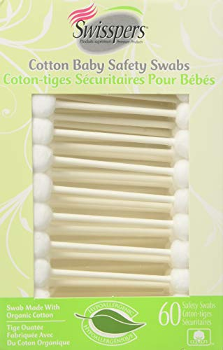 Swisspers - Cotton Swabs Baby - 1 Each - 60 CT Pack of 3