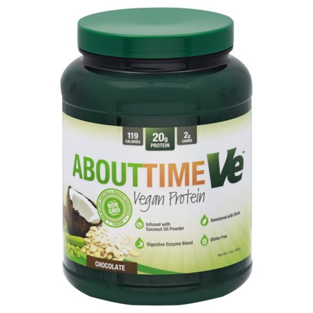 About Time - Vegan Protein Power - Chocolate - 2 lbs. Pack of 3