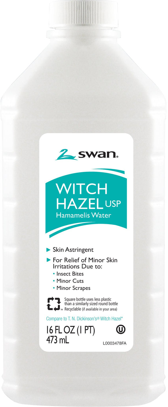 Swan Witch Hazel Usp Hamamelis Water 16 Fl Oz Pack of 12