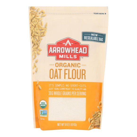 Arrowhead Mills - Organic Oat Flour - Case of 6 - 16 oz.