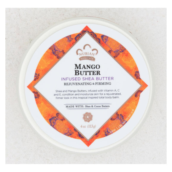Nubian Heritage Mango Butter Infused with Shea Oil and Vitamin C - 4 oz Pack of 3