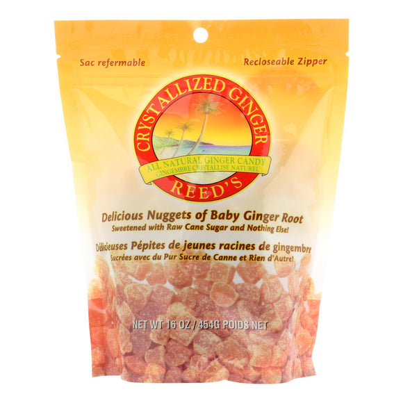 Reed's Ginger Beer Crystallized Ginger - Original - Case of 6 - 16 oz.