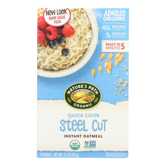 Nature's Path Oats - Organic - Steel Cut - Quick - Case of 6 - 8/1.4 oz