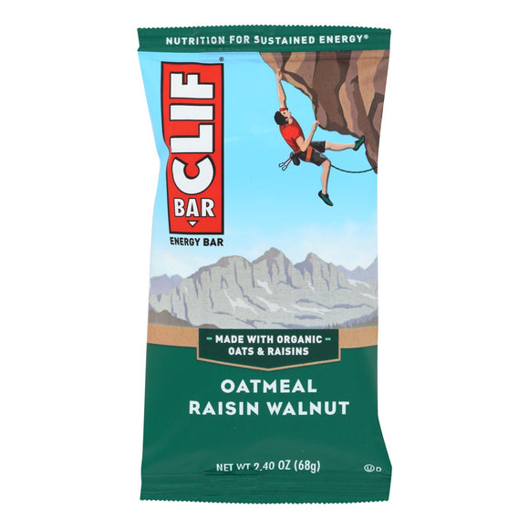 Clif Bar - Organic Oat Raisin Walnut - Case of 12 - 2.4 oz