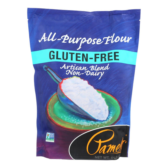 Pamela's Products - All-Purpose Artisan Blend - Flour - Case of 3 - 4 lb.