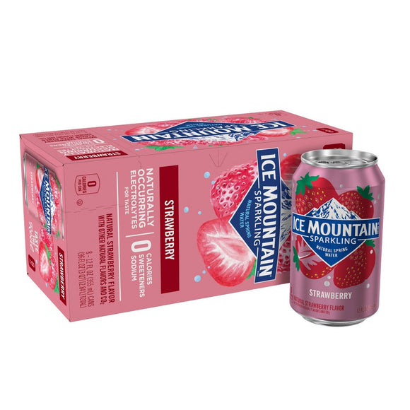 Ice Mountain - Sparkling Water - Summer Strawberry - Case of 3 - 8/12 fl oz.