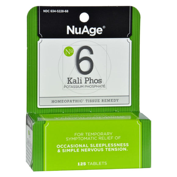 Hyland's NuAge Labs 6 Potassium Phosphate - 125 Tablets Pack of 3