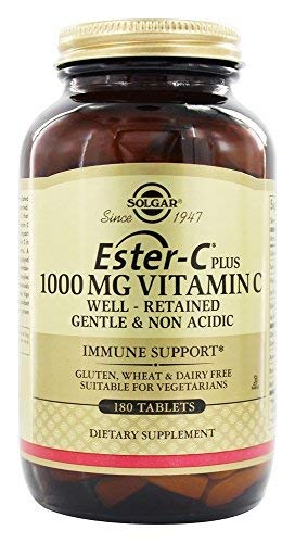 Ester-C® Plus 1000 mg Vitamin C Tablets (Ester-C® Ascorbate Complex) 180 ct Pack of 3