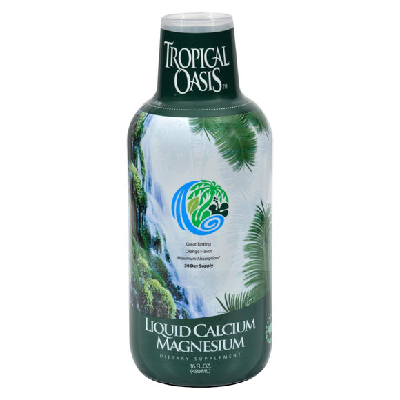 Tropical Oasis Liquid Calcium and Magnesium Orange - 16 fl oz Pack of 3