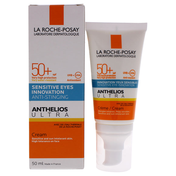 Anthelios Ultra Sensitive Eyes Innovation Cream SPF 50 by La Roche-Posay for Unisex - 1.7 oz Sunscre Pack of 3