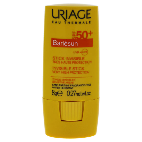 Bariesun Invisible Stick SPF 50 by Uriage for Unisex - 0.27 oz Sunscreen Pack of 3