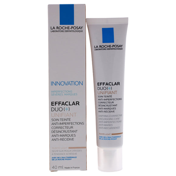 Effaclar Duo Plus Unifiant - Light Shade by La Roche-Posay for Unisex - 1.35 oz Treatment Pack of 3