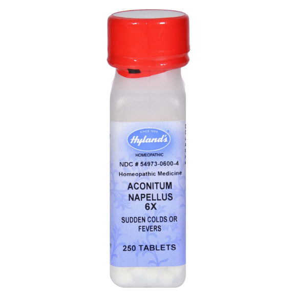 Hyland's Aconitum Napellus 6X - 250 Tablets Pack of 3